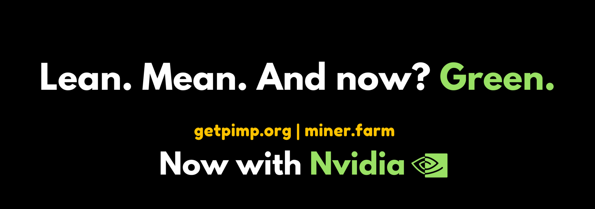 Mine crypto currencies the easiest way with PIMP.